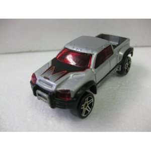 Silver Four Wheel Drive Off Road Pick Up Truck Matchbox