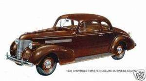 1939 CHEVROLET MASTER DELUXE BUSINESS COUPE ~ MAGNET
