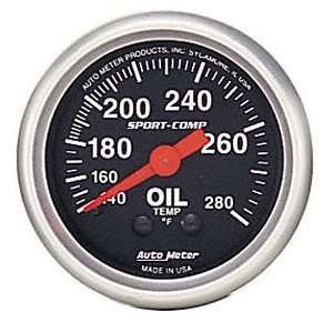 Auto Meter 3443 2 5/8 Mechanical Oil Temperature Gauge