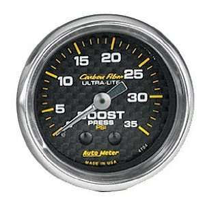 Auto Meter 4704 Carbon Fiber 2 1/16 0 35 PSI Mechanical