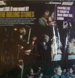 THE ROLLING STONES GOT LIVE IF YOU WANT IT LP US EX+/NM