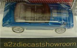 1969 CHEVROLET CAMARO CONVERTIBLE BLUE GARAGE HOT WHEELS 164