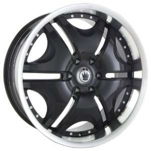 20x8.5 Konig Blix 2 (Black w/ Machined Lip) Wheels/Rims