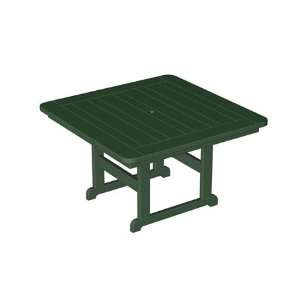 Plastic Park 48 Square Table Aruba Finish Patio, Lawn & Garden