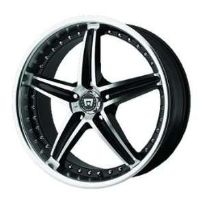 Motegi MR107 20x8.5 Black Wheel / Rim 5x120 with a 42mm Offset and a