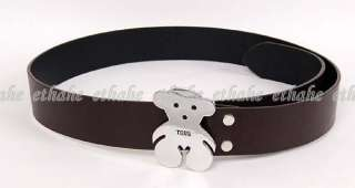 Cute Bear Shaped Buckle Waist Chain Belt Brown 1M50