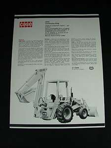 Case 580B Construction King Tractor/Loader/Backhoe Specs Brochure 1971