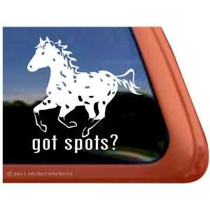 Got Spots? Leopard Appaloosa Horse Trailer Vinyl Window