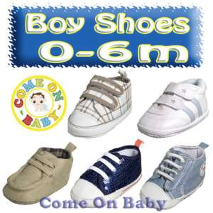 New Infant Baby Boys Toddler Crib Shoes 0 6 Months