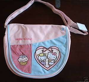 Hello Kitty Sanrio Cupcake Purse Bag Messenger Tote NEW