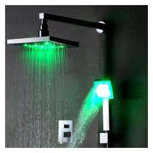Chrome Wall mount LED Shower Faucet 0913 IWL 012