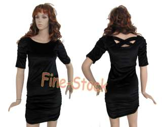 New Fashoin Lady Sexy Attractive Cocktail Party Velvet Mini Slim Dress