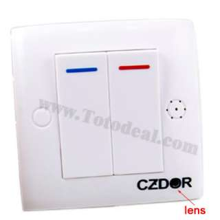 Remote Control Spy Wall Switch Detect Hidden Camera DVR