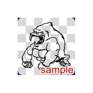 ANIMAL ANGRY APE WHITE VINYL DECAL STICKER
