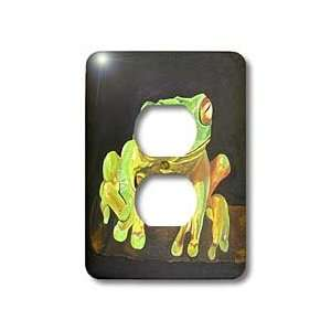 frog, tree, animal, nature   Light Switch Covers   2 plug outlet cover