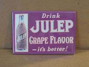 Grape Julep FRIDGE MAGNET soda sign cola bottle cap drink vintage