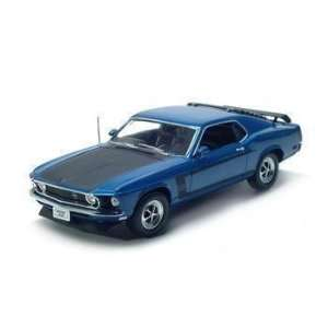 1969 FORD MUSTANG BOSS 302 118 DIECAST MODEL BLUE Toys