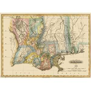 STATE OF LOUISIANA (LA) MAP BY FIELDING LUCAS 1823