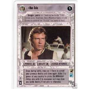 Wars Premier Unlimited White Border Han Solo CCG Card Toys & Games