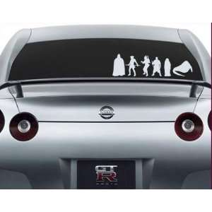 Star Wars Family 02 Decal Set Stick People Car or Wall Vinyl Decal