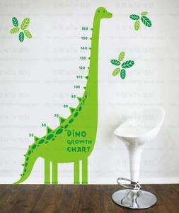 Vinyl Wall Art Kids Nursery Dinosaur Growth Height Chart Interior