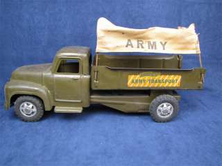 Buddy L Army Transport Pressed Steel Toy Canopy Truck