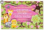 20 Custom PHOTO Giraffe Birdie Monkey Jungle Lion Animal Baby Shower