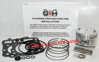 Kawasaki KVF300 300 Prairie Engine Motor Top End Rebuild Kit Machining