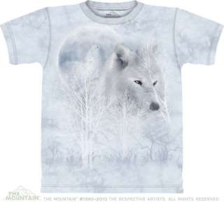 WHITE WOLF MOON ADULT T SHIRT THE MOUNTAIN