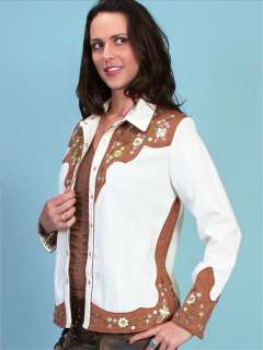 Rockabilly Scully Western Cowgirl Rodeo Show Snap Shirt Firefly XS