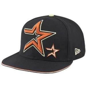 New Era Houston Astros Black Big One Little One Fitted Hat