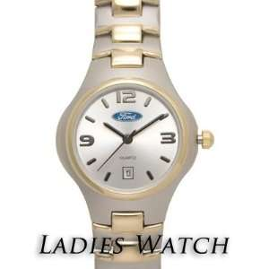 Ford Ladies Two Tone Metal Band Calendar Watch  Sports