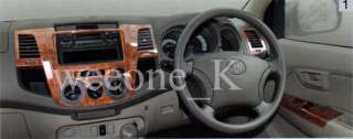 TOYOTA HILUX VIGO 4 DOOR TFP WOOD DASH PART TRIM KIT