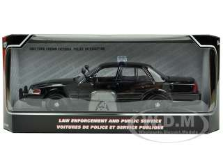 car model 2007 Ford Crown Victoria Police Car Black die cast car by