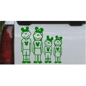 Dark Green 20in X 18.0in    Mickey Mouse Disney 2 Kids Stick Family