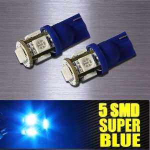 T10/192/194 BASE BLUE 5 LED INTERIOR LIGHTS BULBS