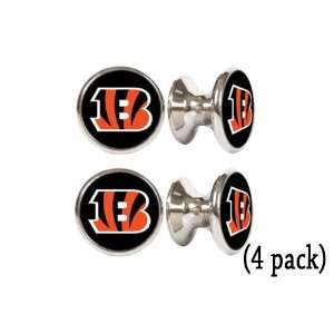 Bengals NFL Stainless Steel Cabinet Knobs / Drawer Pulls (4 pack