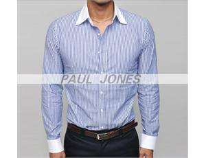 2011hot P&J Men Slim Stylish Strip Casual Dress Shirts