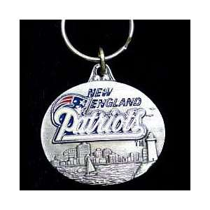 New England Patriots NFL Pewter Key Ring Sports