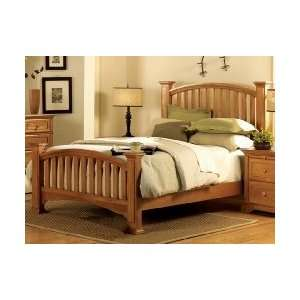 Queen Size Four Post Bed   Light Golden Oak