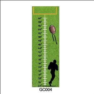 Peel and Stick Football Growth Chart Wall Sticker Removable Wall Decal