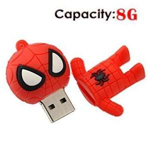 8G Small Cartoon Spider Man Shape Rubber USB Flash Drive