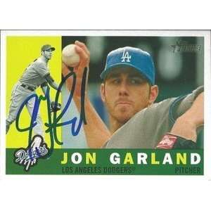 Jon Garland Signed Dodgers 2009 Topps Heritage Card