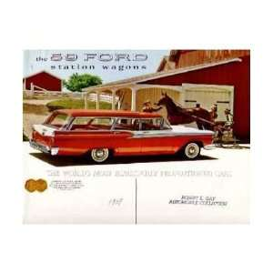 1959 FORD STATION WAGON Sales Brochure Literature Book Automotive