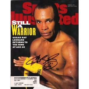 Sugar Ray Leonard signed autographed Sports Illustrated