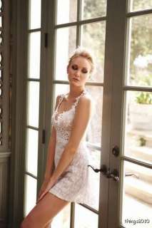 NWT Nightgown CLAIRE PETTIBONE Bridal  PINK Stretch Lace
