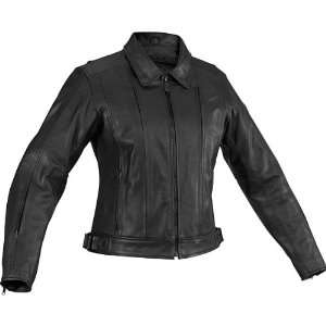 River Road Womens Leather Cruiser Black Motorcycle Jacket