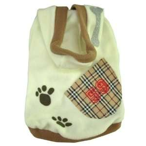 Foot Print & Bone  Dog Puppy Pet Clothes Jacket Coat