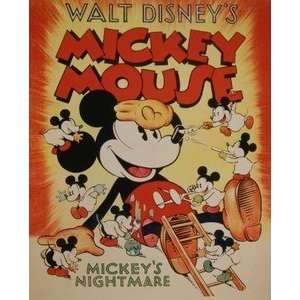 Mickey Mouse Walt Disney Productions Short Film Poster
