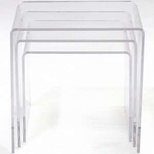 Casper Clear Nesting Table (3 piece set)